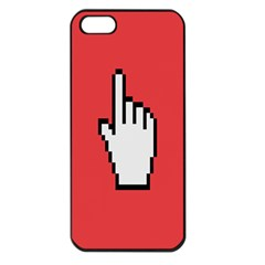 Cursor Index Finger White Red Apple Iphone 5 Seamless Case (black)