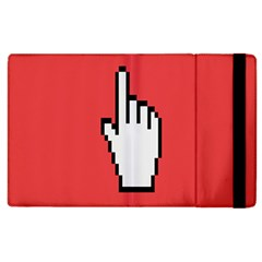 Cursor Index Finger White Red Apple Ipad 3/4 Flip Case by Alisyart