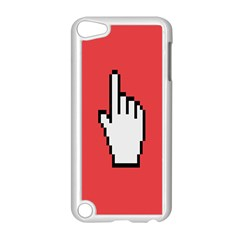 Cursor Index Finger White Red Apple Ipod Touch 5 Case (white) by Alisyart