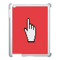 Cursor Index Finger White Red Apple Ipad 3/4 Case (white) by Alisyart