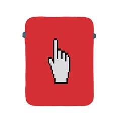 Cursor Index Finger White Red Apple Ipad 2/3/4 Protective Soft Cases