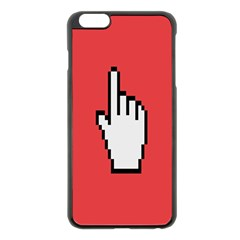 Cursor Index Finger White Red Apple Iphone 6 Plus/6s Plus Black Enamel Case by Alisyart
