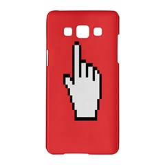 Cursor Index Finger White Red Samsung Galaxy A5 Hardshell Case  by Alisyart