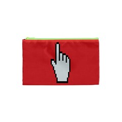 Cursor Index Finger White Red Cosmetic Bag (xs)