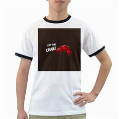 Cutthe Crab Red Brown Animals Beach Sea Ringer T-shirts by Alisyart
