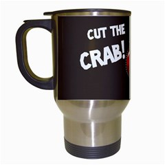Cutthe Crab Red Brown Animals Beach Sea Travel Mugs (white) by Alisyart