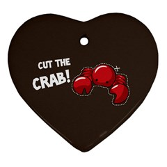 Cutthe Crab Red Brown Animals Beach Sea Heart Ornament (two Sides)