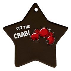 Cutthe Crab Red Brown Animals Beach Sea Star Ornament (two Sides) by Alisyart
