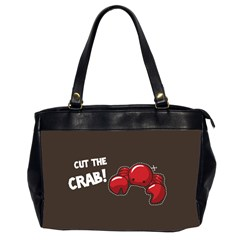 Cutthe Crab Red Brown Animals Beach Sea Office Handbags (2 Sides)
