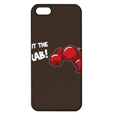 Cutthe Crab Red Brown Animals Beach Sea Apple Iphone 5 Seamless Case (black)