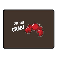 Cutthe Crab Red Brown Animals Beach Sea Double Sided Fleece Blanket (small)  by Alisyart