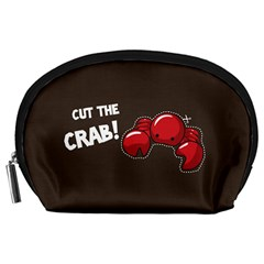 Cutthe Crab Red Brown Animals Beach Sea Accessory Pouches (large)  by Alisyart