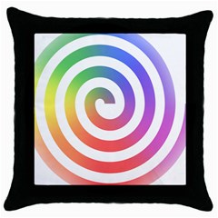 Circle Purple Blue Red Green Yellow Throw Pillow Case (black)