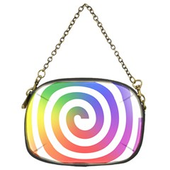 Circle Purple Blue Red Green Yellow Chain Purses (two Sides)
