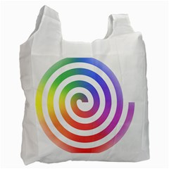 Circle Purple Blue Red Green Yellow Recycle Bag (two Side)  by Alisyart