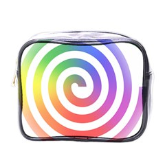 Circle Purple Blue Red Green Yellow Mini Toiletries Bags