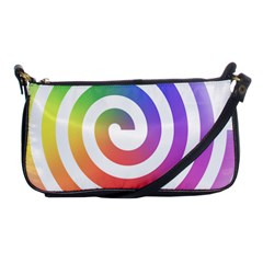 Circle Purple Blue Red Green Yellow Shoulder Clutch Bags
