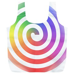 Circle Purple Blue Red Green Yellow Full Print Recycle Bags (l)