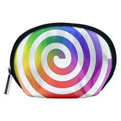 Circle Purple Blue Red Green Yellow Accessory Pouches (medium)