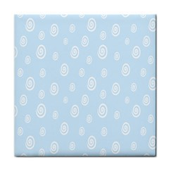 Circle Blue White Tile Coasters
