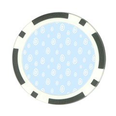 Circle Blue White Poker Chip Card Guard (10 Pack) by Alisyart