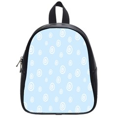 Circle Blue White School Bags (small)  by Alisyart