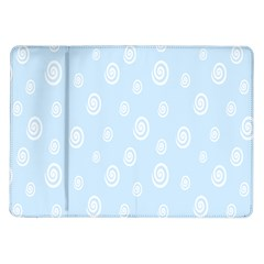 Circle Blue White Samsung Galaxy Tab 10 1  P7500 Flip Case