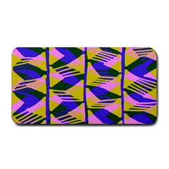 Crazy Zig Zags Blue Yellow Medium Bar Mats