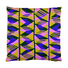 Crazy Zig Zags Blue Yellow Standard Cushion Case (one Side)