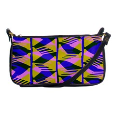 Crazy Zig Zags Blue Yellow Shoulder Clutch Bags by Alisyart