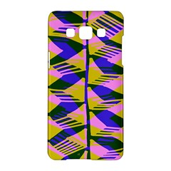 Crazy Zig Zags Blue Yellow Samsung Galaxy A5 Hardshell Case  by Alisyart