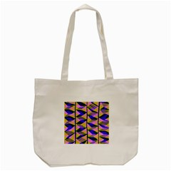 Crazy Zig Zags Blue Yellow Tote Bag (cream) by Alisyart