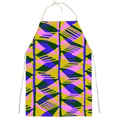 Crazy Zig Zags Blue Yellow Full Print Aprons