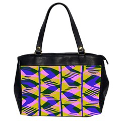 Crazy Zig Zags Blue Yellow Office Handbags (2 Sides)  by Alisyart