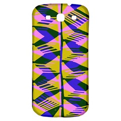 Crazy Zig Zags Blue Yellow Samsung Galaxy S3 S Iii Classic Hardshell Back Case