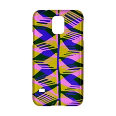 Crazy Zig Zags Blue Yellow Samsung Galaxy S5 Hardshell Case