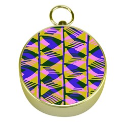Crazy Zig Zags Blue Yellow Gold Compasses by Alisyart
