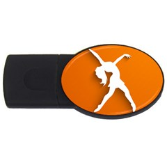 Dance Dancing Orange Girl Usb Flash Drive Oval (2 Gb)