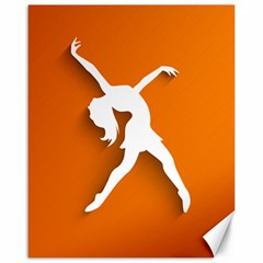 Dance Dancing Orange Girl Canvas 16  X 20   by Alisyart