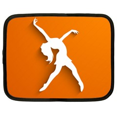 Dance Dancing Orange Girl Netbook Case (large)