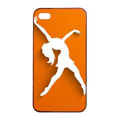 Dance Dancing Orange Girl Apple Iphone 4/4s Seamless Case (black) by Alisyart