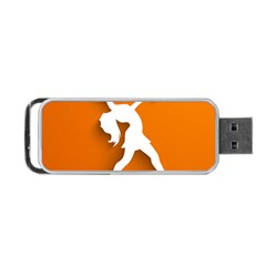 Dance Dancing Orange Girl Portable Usb Flash (two Sides)