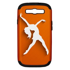 Dance Dancing Orange Girl Samsung Galaxy S Iii Hardshell Case (pc+silicone)