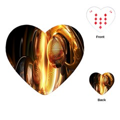 Digital Art Gold Playing Cards (heart)