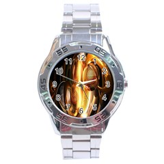 Digital Art Gold Stainless Steel Analogue Watch