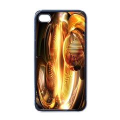 Digital Art Gold Apple Iphone 4 Case (black) by Alisyart