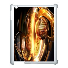 Digital Art Gold Apple Ipad 3/4 Case (white)