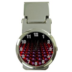 Digital Balls Lights Purple Red Money Clip Watches