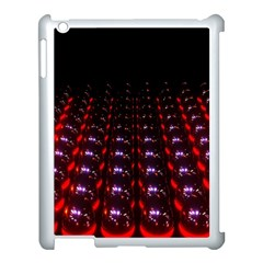 Digital Balls Lights Purple Red Apple Ipad 3/4 Case (white)