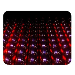Digital Balls Lights Purple Red Double Sided Flano Blanket (large)